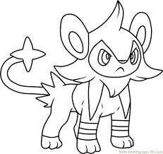 Luxio Pokemon Coloring Page Free Pokémon Coloring Pages Coloring Page