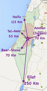 sheva israel map where is jerusalem the location of jerusalem and distances to cities