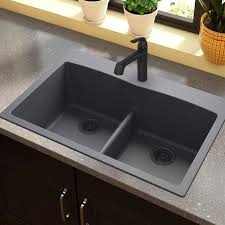 awesome kitchen sinks charming elkay quartz classic 33 x 22 double basin top mount