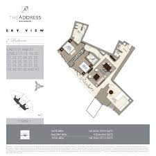 Millennium Tower Floor Plans Floor Plans The Address Sky View Towers Downtown Dubai By Emaar
