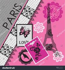 eiffel tower invitations eiffel tower invitation card background stock vector