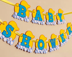 rubber duck baby shower decorations rubber duck banner etsy