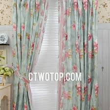sage green floral country shabby chic romantic bedroom curtains
