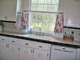 Vintage Style Kitchen Curtains by Farmhouse Kitchen Curtains Trends Including Style Pictures