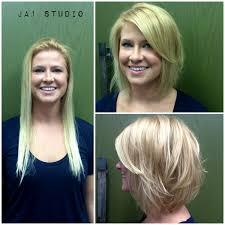before and after picuters of long to short hair less is more hair makeover short hair long bob haircut before