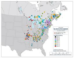 Pennsylvania On The Map by White Nose Syndrome Map Asu Ask A Biologist