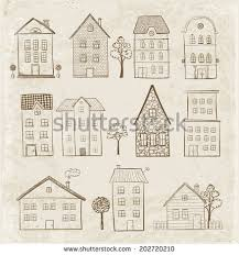 sketches houses vector illustration stock vector 199714130