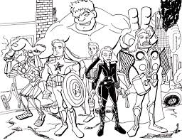 coloring pages avengers bebo pandco