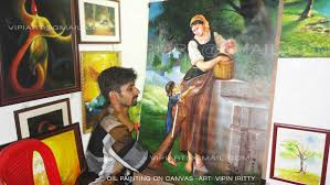 mural and oil paintings by vipin iritty on behance