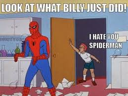 60 Spiderman Memes - spiderman doesn t like kids in 14 memes the grasshopper