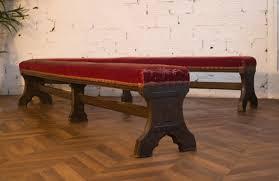 church benches red velvet napoleon iii period original