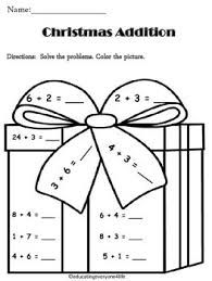 free math christmas worksheets first grade u2013 christmas fun zone