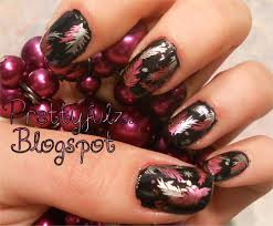 prettyfulz konad nail art design feather nail art designs