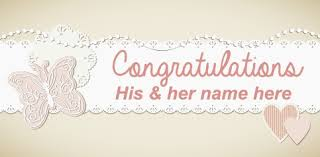 wedding congratulations banner wedding banner butterfly