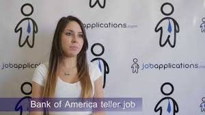 bank of america interview teller youtube