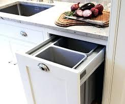 under sink trash pull out sliding trash can under sink ses under sink pull out trash bin