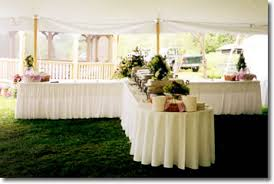 table setting for buffet reception shaped buffet tables with