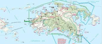 road map of st usvi st map st info usvi island travel information