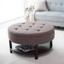 coffee table leather round ottoman coffee table modern home