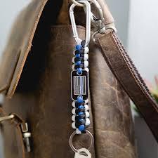 australian shepherd keychain thin blue line paracord key chain helps provide body armor for k9