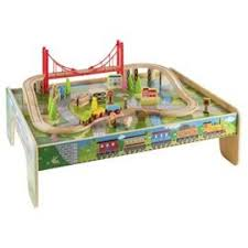 wooden train set table childrens wooden train table 56 piece train set accessories