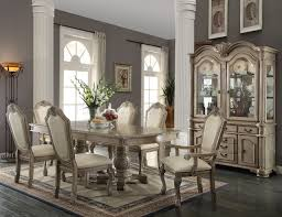 formal dining room set chateau de ville dining table white by acme