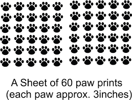amazon com cat dog 60 animal paw prints living room bedroom amazon com cat dog 60 animal paw prints living room bedroom picture art peel stick sticker design with vinyl wall decal 24 colors available