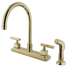 Polished Brass Kitchen Faucets Kitchen Faucets Get A Modern Or Traditional Kitchen Sink Faucet