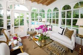 Ideas For Leopard Ottoman Design Leopard X Stools Transitional Living Room Luxe Report