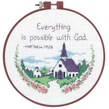 dimensions counted cross stitch kit everything is possible