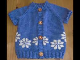 easy baby sweater knitted cardigan made