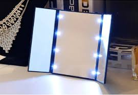 tri fold mirror with lights shoppy portable led light make up cosmetic tri fold mirror shoppy