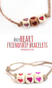 friendship heart heart friendship bracelets tutorial and crafters