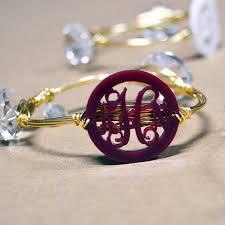 monogrammed bracelets solid color bangle monogram bracelet