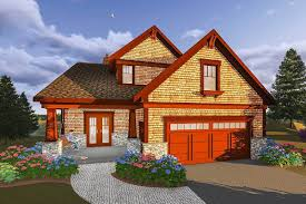 rustic craftsman house plan for a narrow lot 890065ah