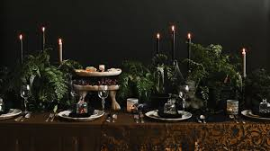 halloween tablescapes with haunting charm