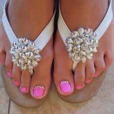 my pedicure done by kimmie baby pink to match my gel manicure