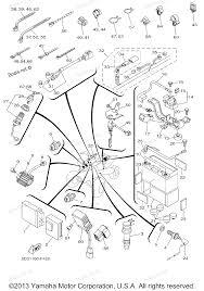 2007 yfz450 yfz450w yamaha atv electrical 1 diagram and parts