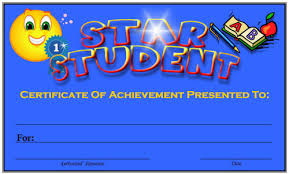 star student certificate template free printable award