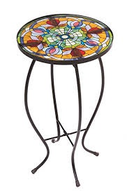 small patio side table patio side table incredible amazon com tiffany inspired floral for 2