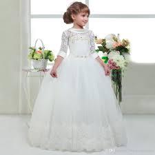 holy communion dress abaowedding communion dresses for kids white