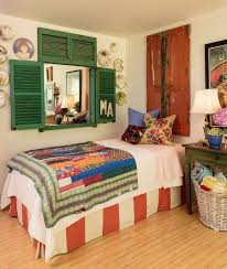 50 delightfully stylish and soothing shabby chic bedrooms view in gallery beautiful shutters flea market finds and pops of color for the shabby chic bedroom