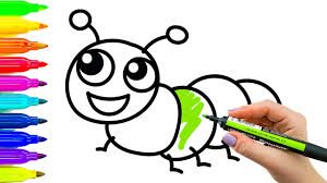 art for kids how to draw and color caterpillar learning