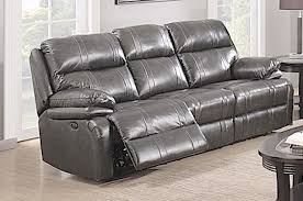 Power Leather Recliner Sofa Power Reclining Sofa Grey Italian Leather Sam Levitz Gray
