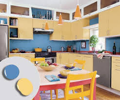 Kitchen Yellow Walls - blue kitchen cabinets yellow walls lakecountrykeys com