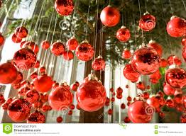 hanging christmas baubles stock images image 34729664