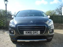 blue peugeot for sale used 2016 peugeot 3008 blue hdi ss allure 5dr for sale in