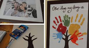 family handprint tree diy fathers day gifts from click