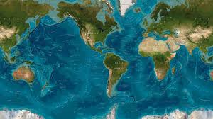 Picture Of A World Map by World Map Of Oceanic Features 4320 2430 Os Http Www Reddit