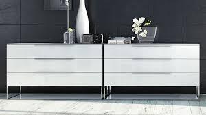 Contemporary White Lacquer Bedroom Furniture Matte White Lacquer And Glass Milano Dresser Zuri Furniture